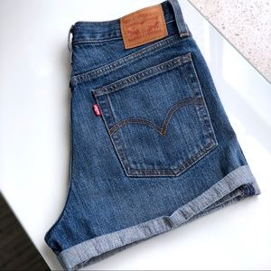 Levi's Wedgie Fit High Waisted Shorts
